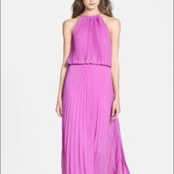 Dresses | Xscape Pleated Halter Dress Size 6 | Poshmark